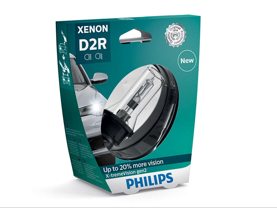 Лампа ксеноновая Philips D2R X-treme Vision +50% 1шт