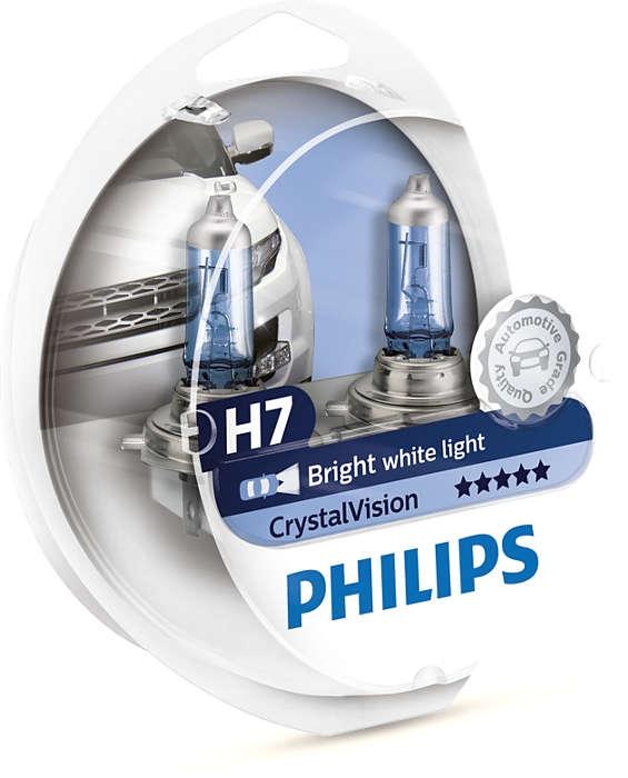 Лампа галогенная Philips H7 CrystalVision 2+2 шт