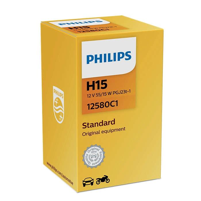 Лампа галогенная Philips H15 Standard 1шт