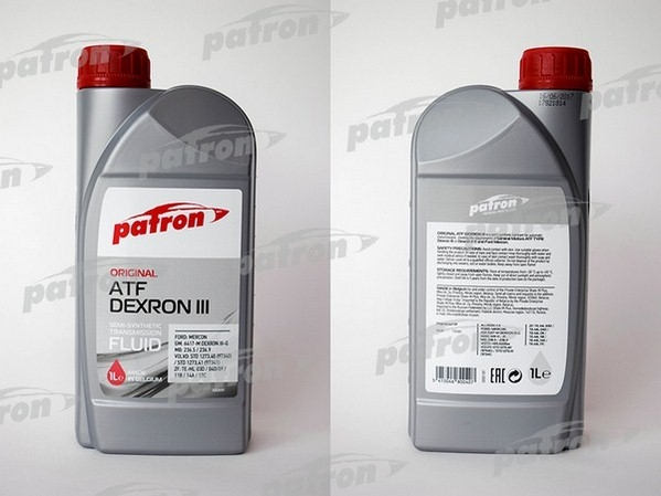 Трансмиссионное масло Patron ATF DEXRON III 1л