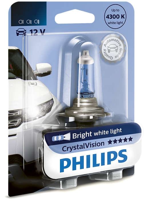 Лампа галогенная Philips H11 Crystal Vision 1шт