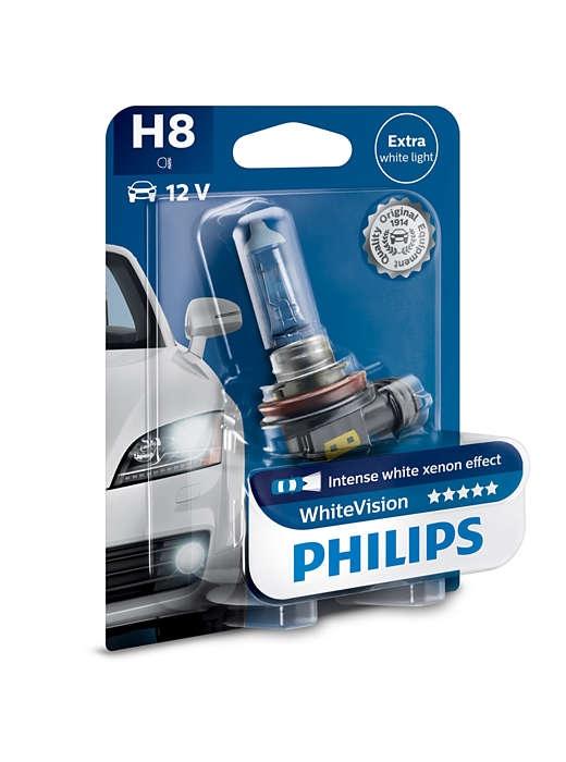Лампа ксеноновая Philips H8 WhiteVision 1шт