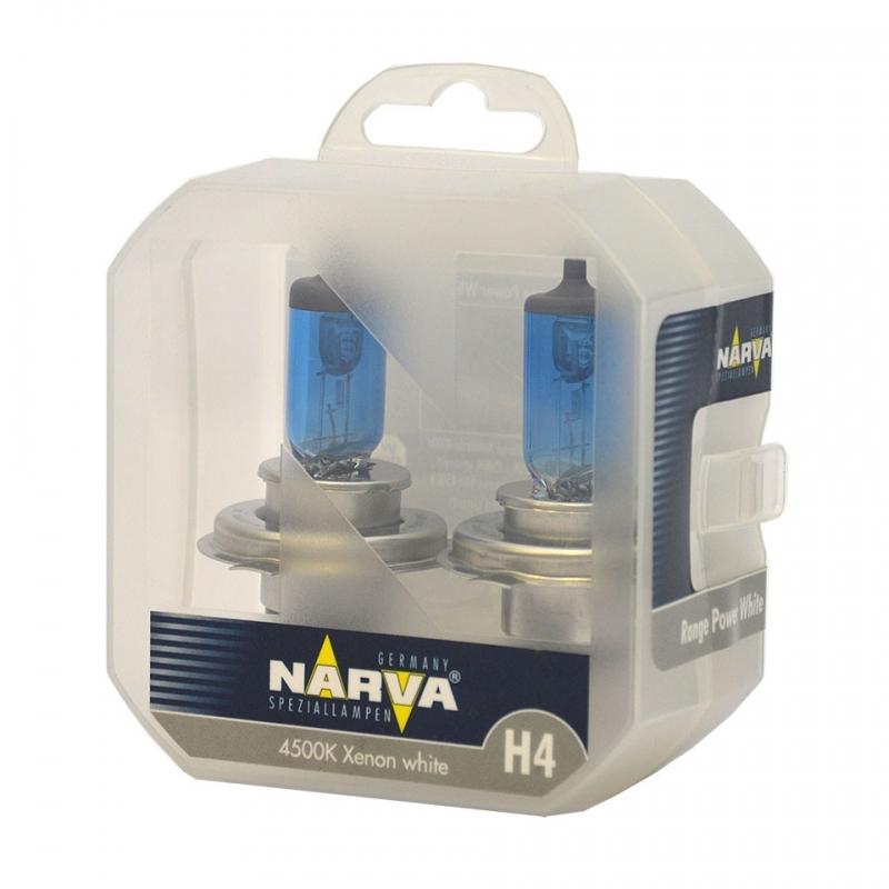 Лампа галогенная Narva H4 Range Power White 2 шт