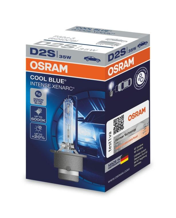 Лампа ксеноновая Osram D2S Cool Blue Intense Xenarc 1шт [66240CBI]