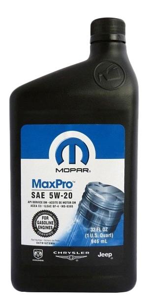 Моторное масло Mopar MaxPro 5W-20 0.946л