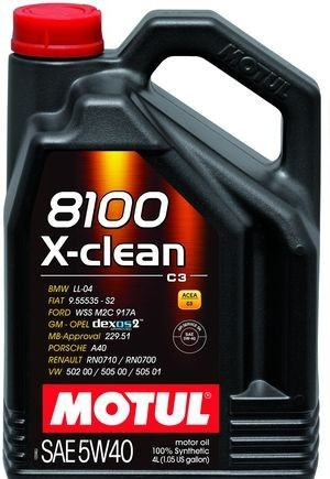 Моторное масло Motul 8100 X-Clean C3 5W-40 4л