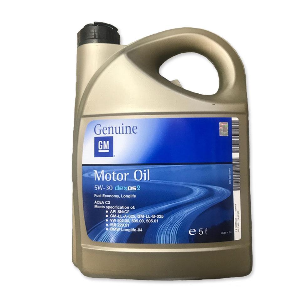 Моторное масло GM Longlife Dexos 2 5W-30 5л (EU)