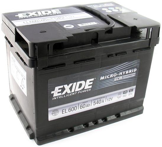 Аккумулятор Exide Micro-Hybrid ECM EL600 (60Ah)