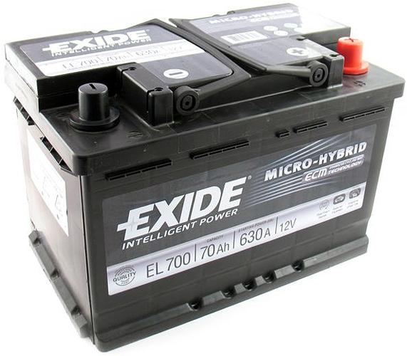 Аккумулятор Exide Micro-Hybrid ECM EL700 (70Ah)