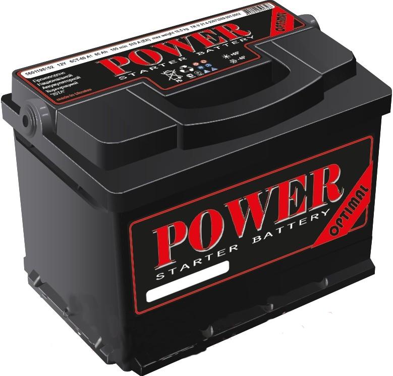 Аккумулятор ISTA Power Optimal 6СТ-60А1 евро (60 А/ч)