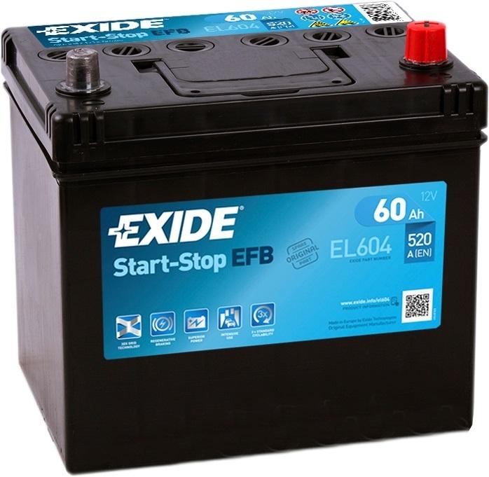 Аккумулятор Exide Start-Stop EFB EL604 (60 А·ч)