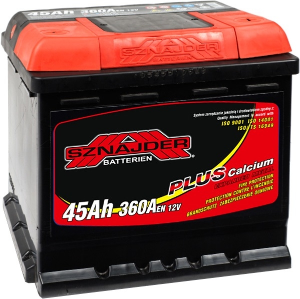 Аккумулятор Sznajder Plus 45 R(45 А·ч)