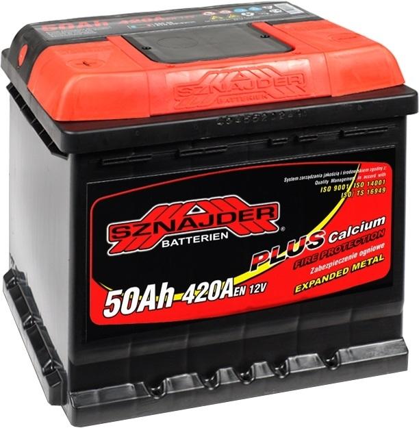 Аккумулятор Sznajder Plus низкий 50 R (50 А·ч)