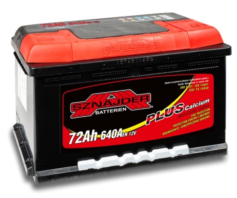 Аккумулятор Sznajder Plus низкий 72 R (72 А/ч)