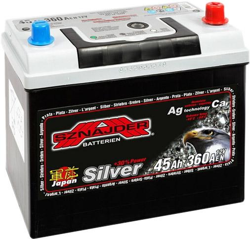 Аккумулятор Sznajder Silver Japan 45 JR (45 А/ч)