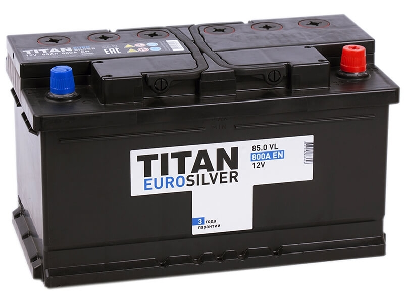 Аккумулятор Titan EuroSilver 85 R низк (85 А·ч)