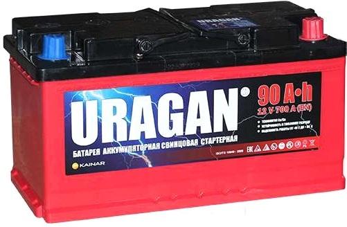 Аккумулятор Uragan 90 R+ (90 А·ч)
