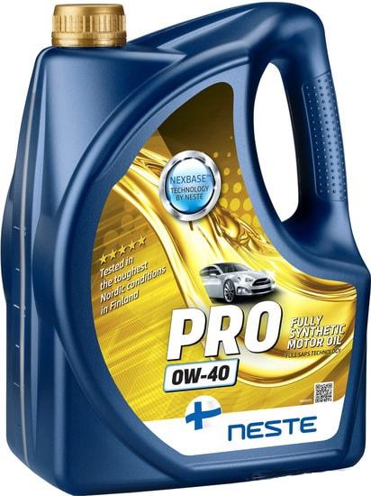 Моторное масло Neste Pro 0W-40 4л