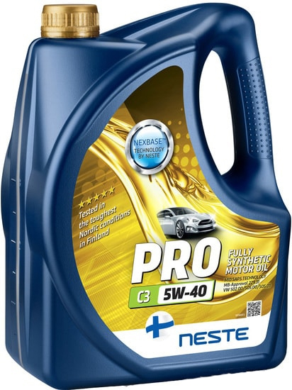 Моторное масло Neste Pro C3 5W-40 4л