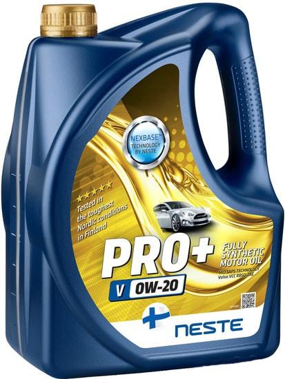 Моторное масло Neste Pro+ V 0W-20 4л