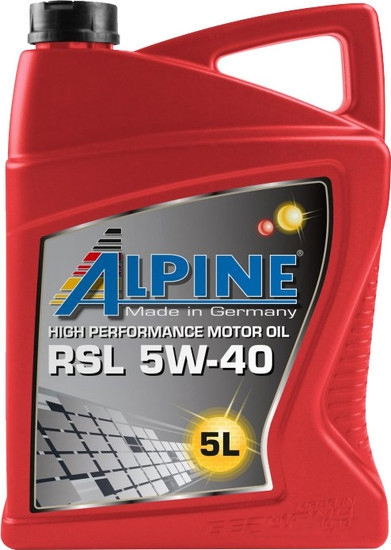 Моторное масло Alpine RSL 5W-40 5л