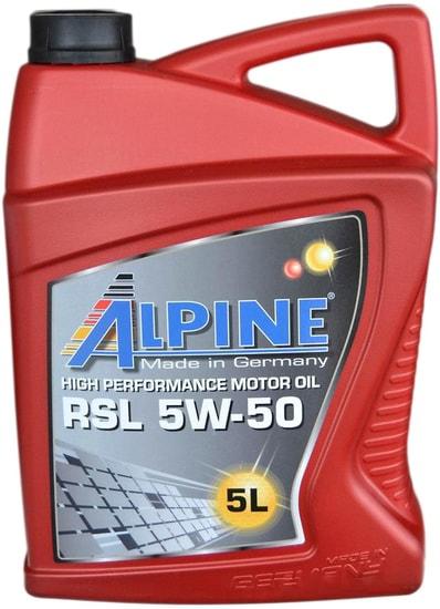 Моторное масло Alpine RSL 5W-50 5л