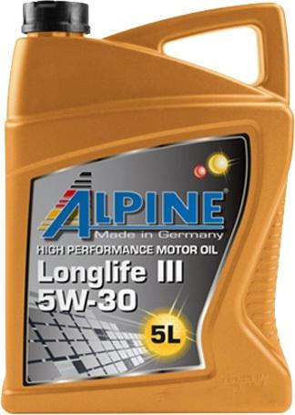 Моторное масло Alpine Longlife III 5W-30 5л