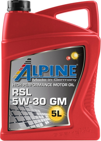Моторное масло Alpine RSL 5W-30 GM 5л