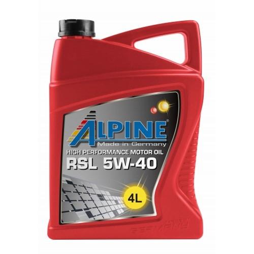 Моторное масло Alpine RSL 5W-40 4л