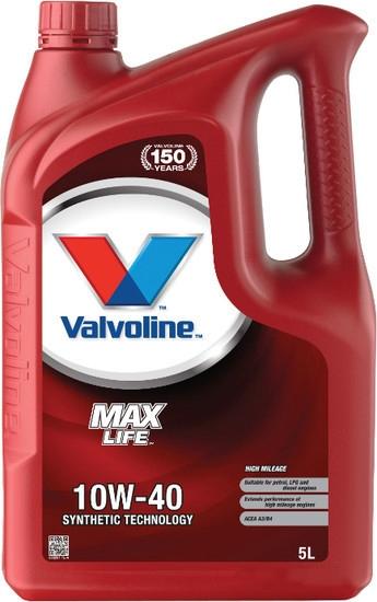 Моторное масло Valvoline MaxLife 10W-40 5л