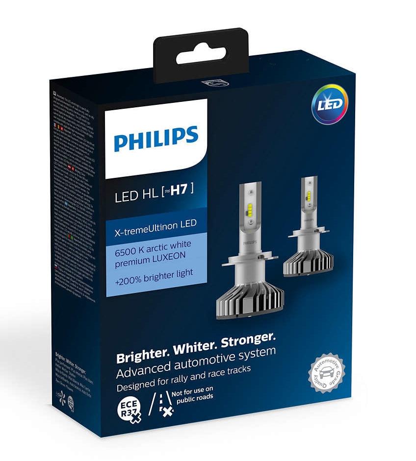 Лампа светодиодная Philips H7 X-tremeUltinon LED 2шт