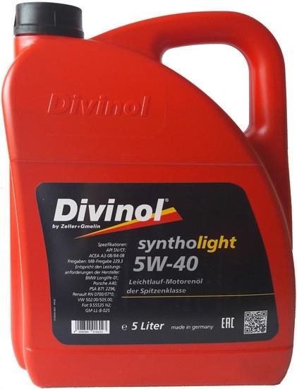 Моторное масло Divinol Syntholight 5W-40 5л