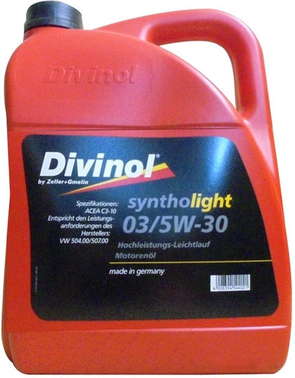 Моторное масло Divinol Syntholight 03 5W-30 5л