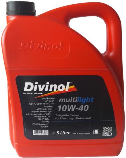 Моторное масло Divinol Multilight 10W-40 5л