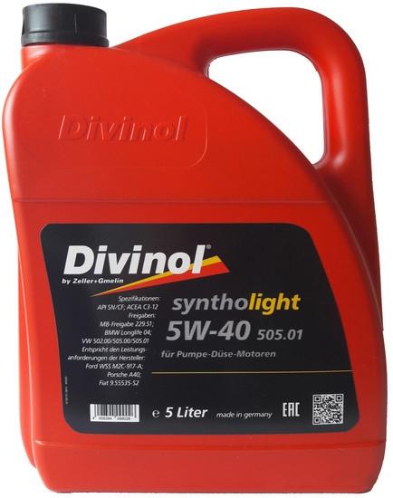 Моторное масло Divinol Syntholight 505.01 5W-40 5л