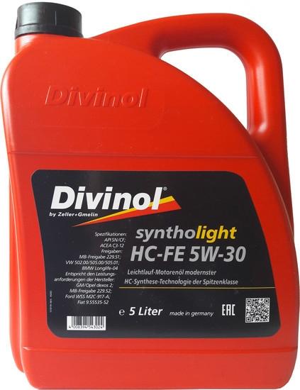 Моторное масло Divinol Syntholight HC-FE 5W-30 5л