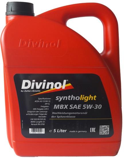 Моторное масло Divinol Syntholight MBX 5W-30 5л