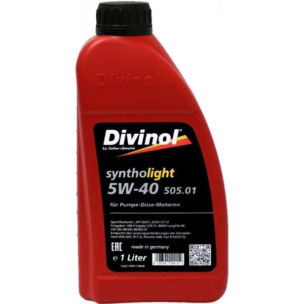 Моторное масло Divinol Syntholight 505.01 5W-40 1л