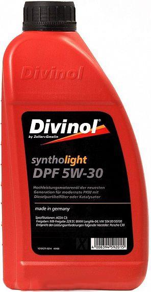 Моторное масло Divinol Syntholight DPF 5W-30 1л