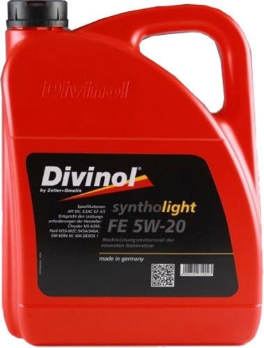 Моторное масло Divinol Syntholight FE 5W-20 5л [49370-5]