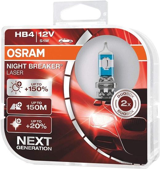 Лампа галогенная Osram HB4 9006NL-HCB 2шт