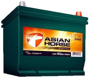 Аккумулятор Asian Horse 60JR (60Ah)