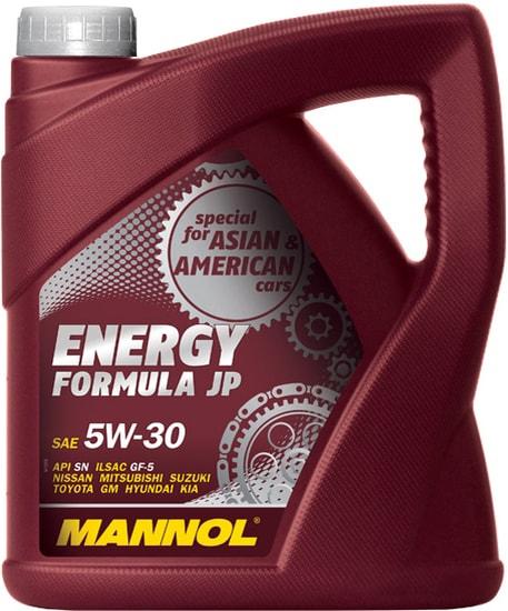 Моторное масло Mannol Energy Formula JP 5W-30 API SN 4л