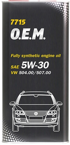 Моторное масло Mannol 7715 O.E.M. 5W-30 API SN/CF 5л [MN7715-5ME]