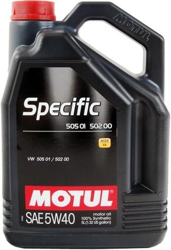 Моторное масло Motul Specific 505 01/502 00/505 00 5W-40 5л
