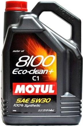 Моторное масло Motul 8100 Eco-clean+ 5W-30 C1 5л