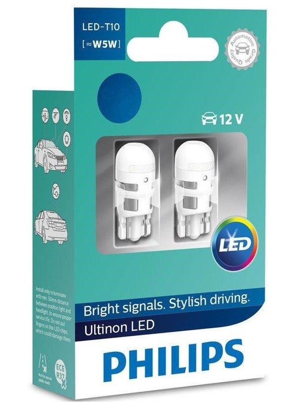 Лампа светодиодная W5W Philips Ultinon LED 2 шт