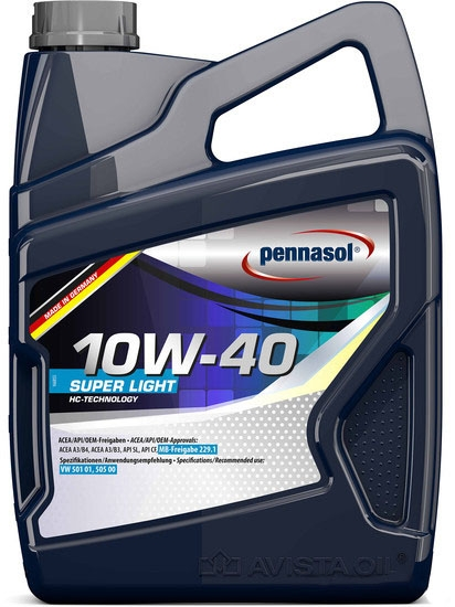 Моторное масло Pennasol Super Light 10W-40 5л