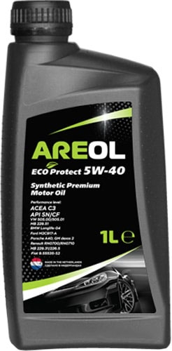Моторное масло Areol Eco Protect 5W-40 1л