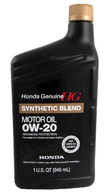 Моторное масло Honda Synthetic Blend 0W-20 SN (08798-9036) 0.946л